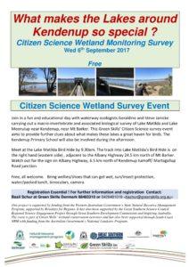 Kendenup Wetlands: Citizen Science Wetland Monitoring Survey